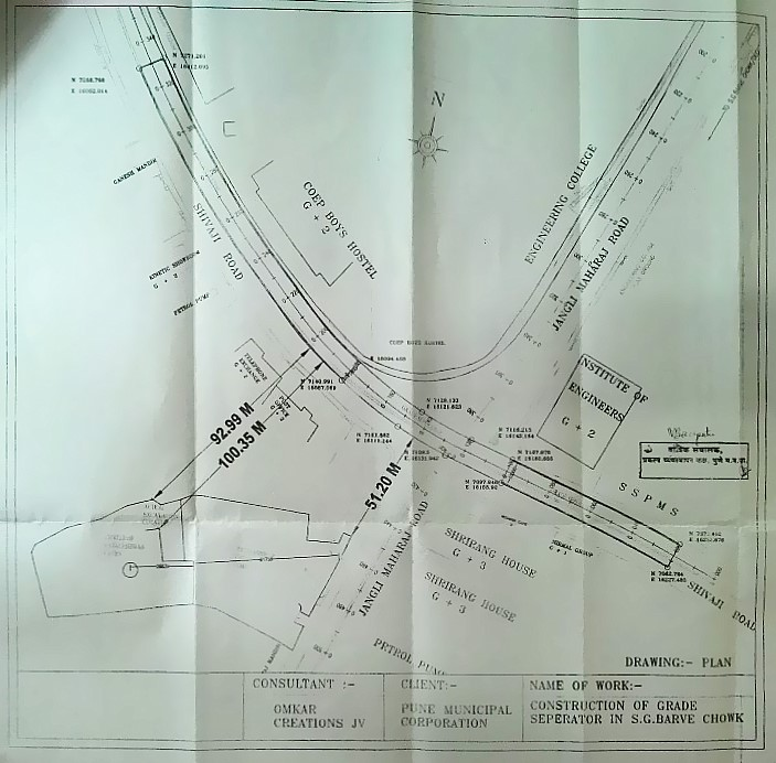 location of s g barve chowk grade separator